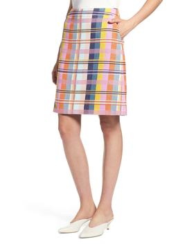 Halogen(R) Plaid Tweed Pencil Skirt (Regular & Petite) by Halogen