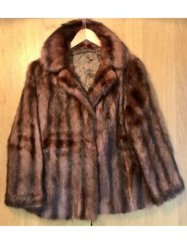 Amazing!! Size 8/10 Vintage Real Genuine Mink Fur Jacket Coat Brown Dominion Fur by Ebay Seller