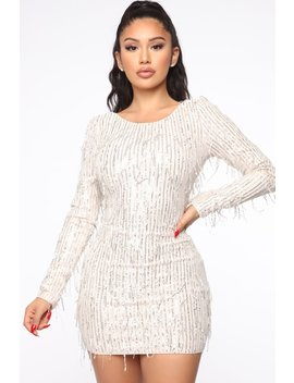 Taking The Spotlight Sequin Mini Dress   Silver by Fashion Nova