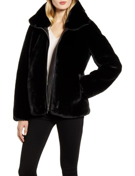 Faux Fur Jacket by Cole Haan Signature