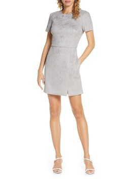 Patty Short Sleeve Suedette Dress by French Connection