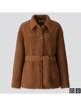 Women U Pile Lined Fleece Short Coat by Uniqlo