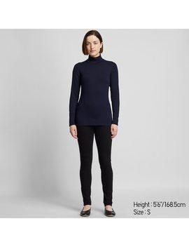 Women Heattech Ultra Warm High Neck T Shirt by Uniqlo