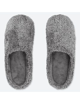Fluffy Yarn Fleece Slippers by Uniqlo