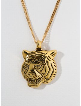 The Latifah Tiger Gold Necklace by Vanessa Mooney