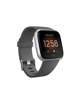 Fitbit Versa™ Lite Edition, Charcoal/Silver Aluminum by Fitbit