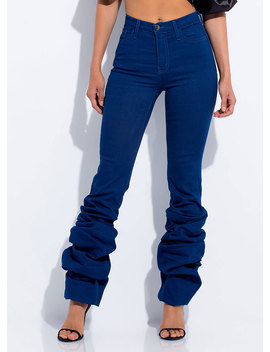 Love You Bunches Scrunched Jeans by Go Jane