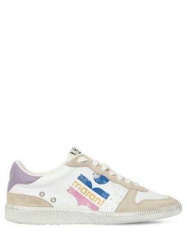 "20 Mm Hohe Ledersneakers Mit Logo ""Bullian"" by Isabel Marant"