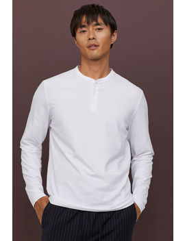 Slim Fit Henley Shirt by H&M