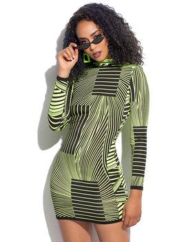 Put It On The Line Striped Minidress by Go Jane