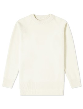 Jil Sander Logo Patch Crew Knit by Jil Sander