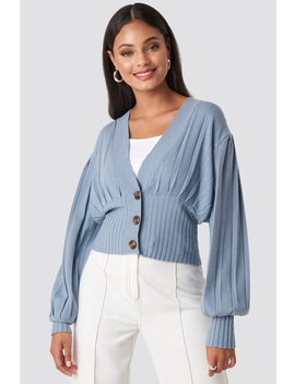 Short Ribbed Cardigan Blue by Na Kd Trend