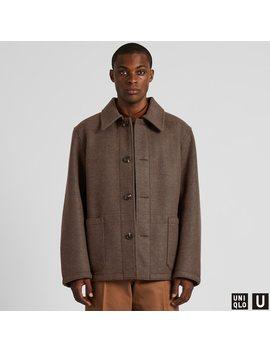 Men U Wind Proof Long Sleeve Fleece Jacket by Uniqlo