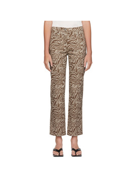 Brown Zebra Junior Jeans by Miaou
