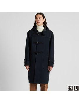 Men U Blocktech Duffle Coat by Uniqlo