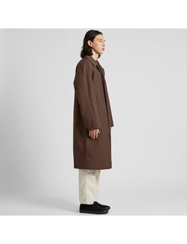 Men U Blocktech Oversized Coat by Uniqlo