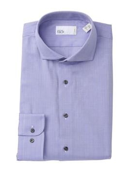 Herringbone Trim Fit Dress Shirt by Nordstrom Rack