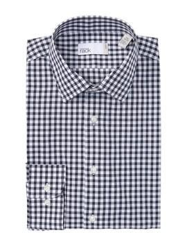 Gingham Print Trim Fit Dress Shirt by Nordstrom Rack
