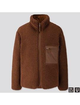 Men U Pile Lined Fleece Reversible Jacket by Uniqlo