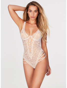 Lana Lucia Lace Bridal Teddy by Frederick's Of Hollywood