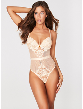Alexa Zoe Guipure Lace Bridal Teddy by Frederick's Of Hollywood