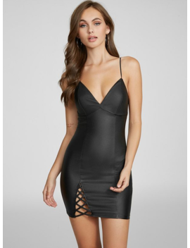 Kendal Coated Lace Up Dress by G By Guess