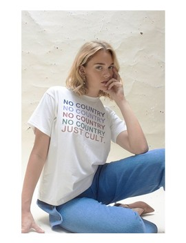 House Of Sunny No Country Just Cult Tee by House Of Sunny