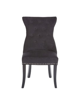 Houseology Collection Savoy Dining Chair With Studs Black Velvet by Houseology