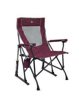 Gci Outdoor Maroon Roadtrip Rocker Folding Chair by Ace Hardware