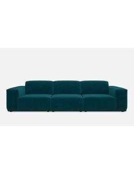 Todd Extended Sofa, Deep Teal Velvet | Castlery by Castlery