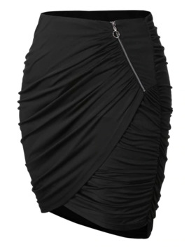 Plus Size Ruched Mini Skirt by Dress Lily