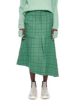 Windowpane Cargo Skirt by Tibi