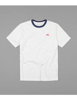 Nike Sb Nordic Rib T Shirt   Sail / Obsidian / Bright Crimson by Nike Sb