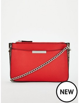 Pebble Triple Compartment Crossbody With Chain Strap by Michelle Keegan