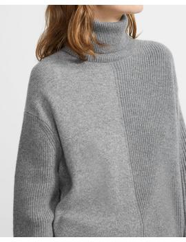 Cashmere Color Block Turtleneck Sweater by Theory