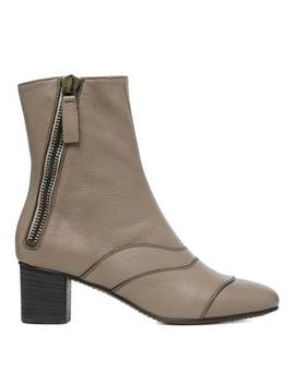 Motty Grey Leather Lexie Ankle Boots by Chloé