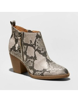 womens-jameson-faux-leather-snake-double-zip-bootie---universal-thread by universal-thread