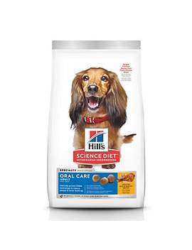 Hill's Science Diet Adult Oral Care Chicken, Rice & Barley Recipe Dry Dog Food, 28.5 Lbs., Bag Hill's Science Diet Adult Oral Care Chicken, Rice & Barley Recipe Dry Dog Food, 28.5 Lbs., Bag by Hill's