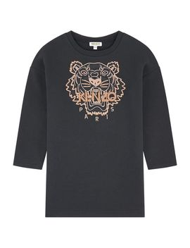Sweatshirt Dress With Embroidered Tiger by Kenzo Kids