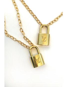 Lv Lock Necklace by Iamkoko