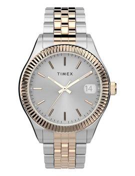 Waterbury Legacy 34mm Stainless Steel Bracelet Watch by Timex