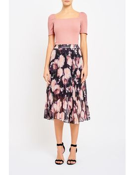 Elsie Overlay Pleated Skirt by Valleygirl
