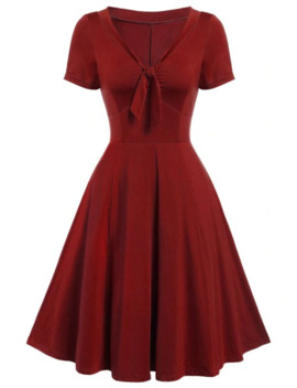 Vintage Bow Tie Pin Up Dress by Dress Lily