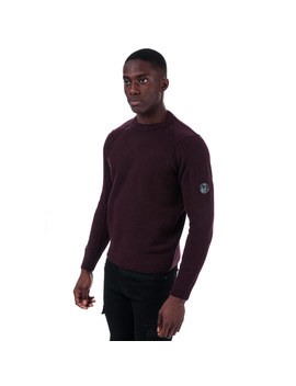 Mens Lambswool Crew Neck Knit by C.P. Company
