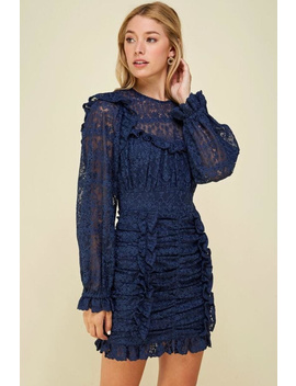 Puff Sleeve Lace Dress by Chikas, Los Angeles
