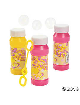 Lemonade Scented Bubble Bottles by Oriental Trading