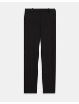 Double Jersey Knit Cropped Tailored Trouser by Theory