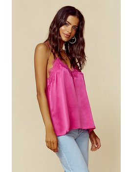The Racer Charmeuse Cami by Cami Nyc