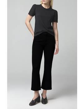 Demy Cropped Flare In Sueded Black by Citizens Of Humanity