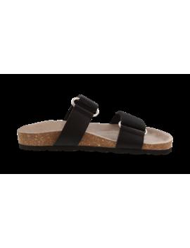 Zayne Black Grosgrain Sandals by Tony Bianco